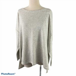 OLD NAVY Grey Sweater with Lace Trim NWT
